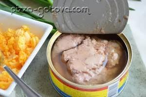 Добавляем консервированную печень трески