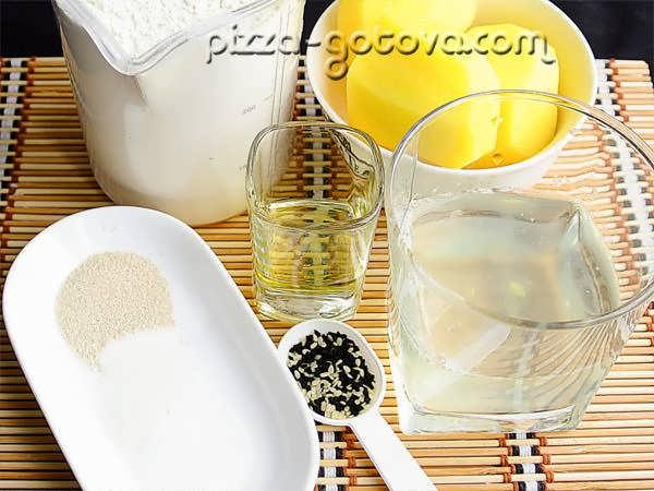Ингредиенты для картофельного хлеба
