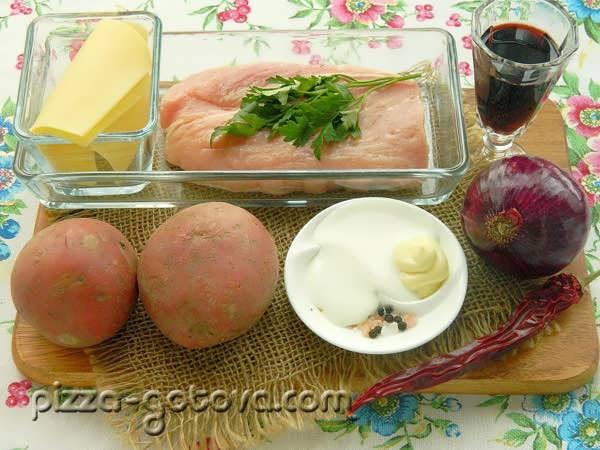 Ингредиенты для свинины по французски