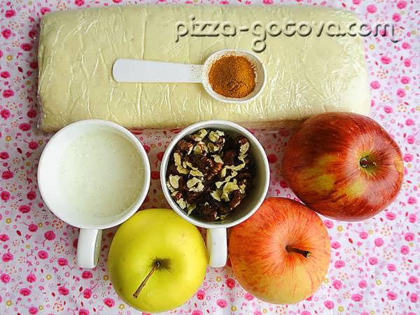 Ингредиенты на яблочный пирог