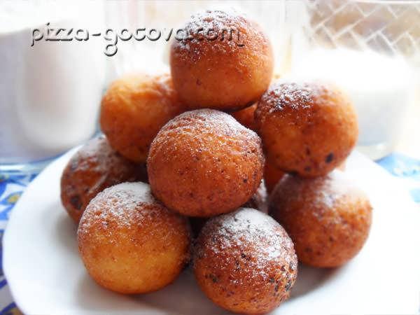 Творожные пончики за 10 минут