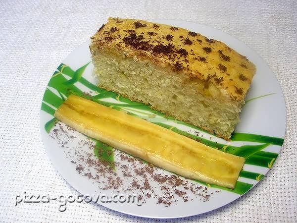 Банановый пирог фото