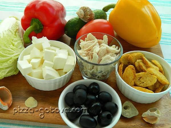 Ингредиенты греческого салата