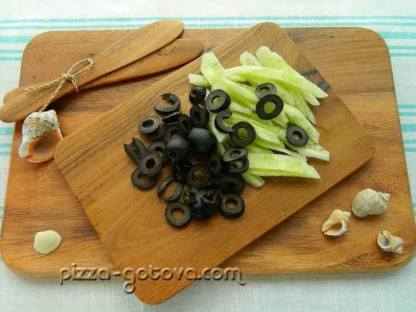 нарезать маслины
