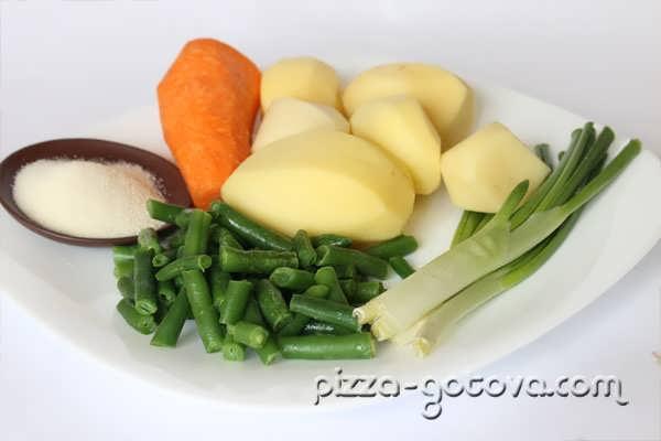 Ингредиенты для диетического супа