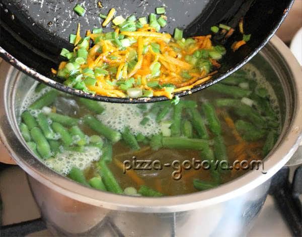 морковь и лук в диетический суп