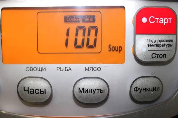 режим «Суп» в мультиварке