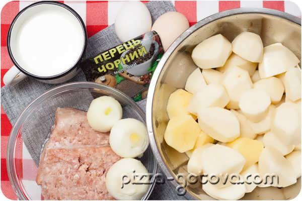 Картофельное пюре с фаршем в духовке