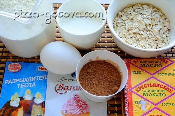 ингредиенты для печенья из хлопьев