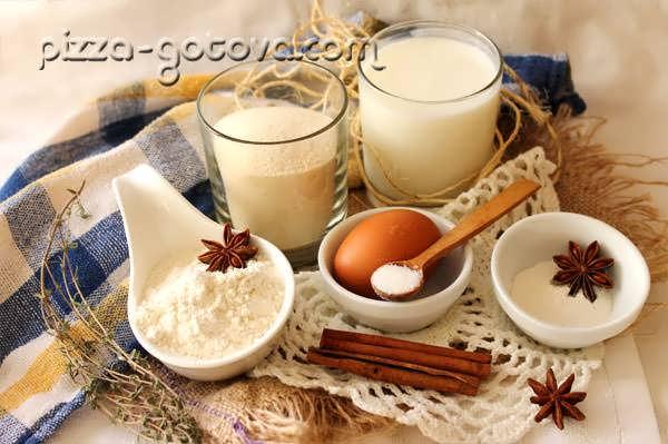 ингредиенты для приготовления манника
