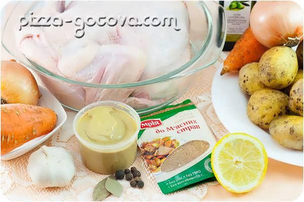 ингредиенты для вкусной курицы