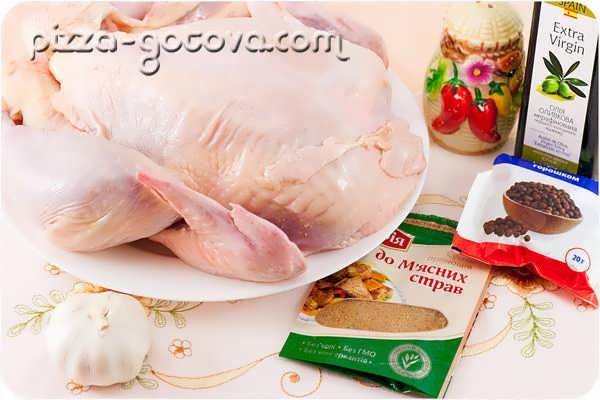 ингредиенты для запекания курицы