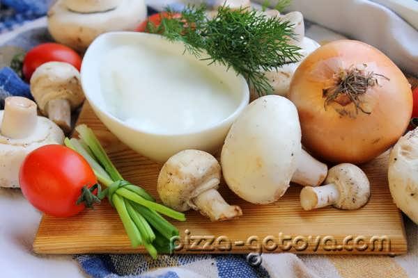 ингредиенты для варки грибов