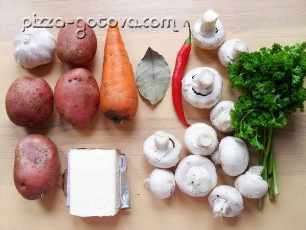 ингредиенты сырного супа