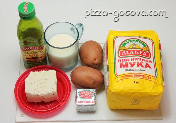 Ингредиенты для фокаччи