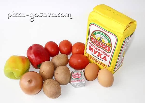 ингредиенты для картофельной пиццы