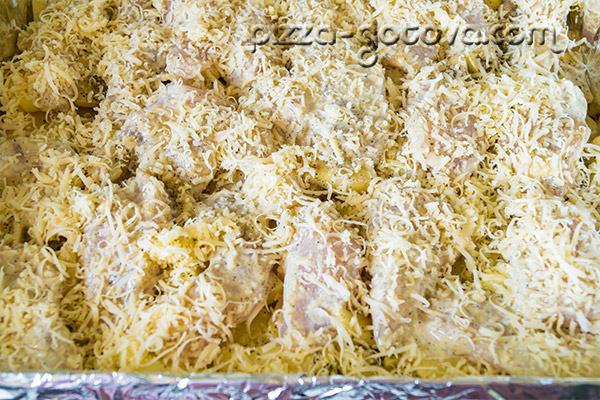 филе курицы с картошкой в духовке рецепт с фото с сыром и