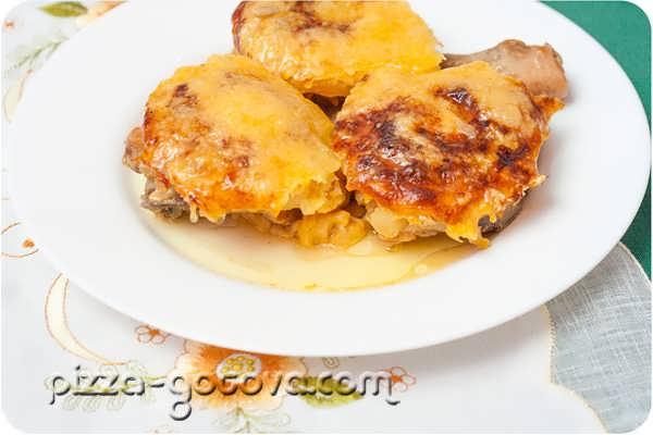 курица с ананасами в духовке фото