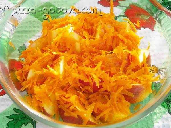 натереть морковку на терке