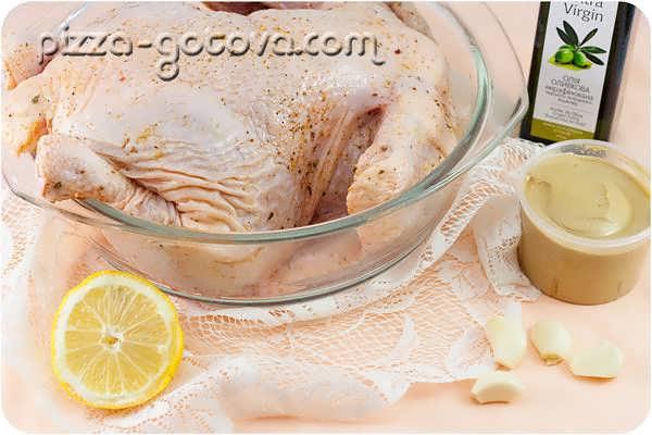 атираем курицу лимоном