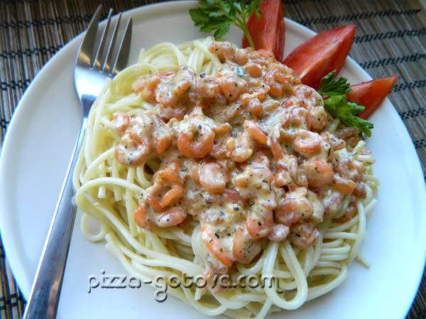 спагетти с в сливочном соусе рецепт с фото