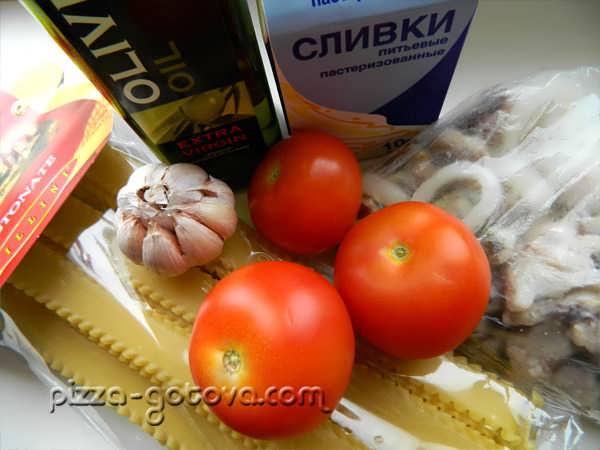 Ингредиенты, для приготовления пасты