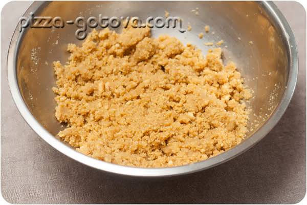 перемешиваем печенье