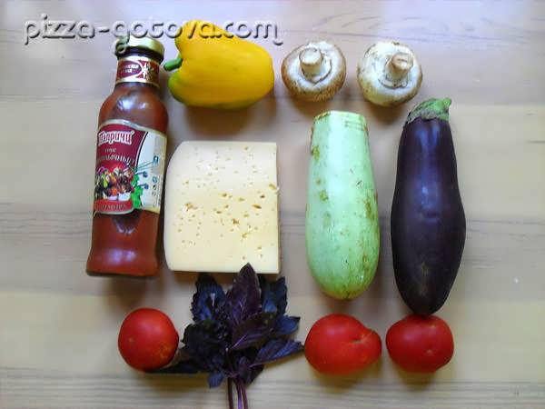 ингредиенты для быстрой пиццы