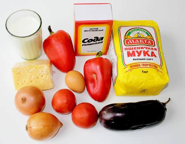ингредиенты для пиццы с овощами