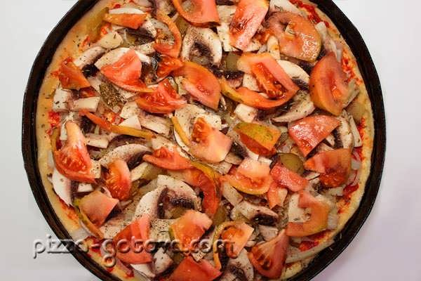 начинка с помидорами и грибами