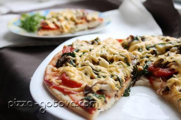 пицца с вешенками, фото