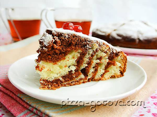 пирог Зебра рецепт с фото