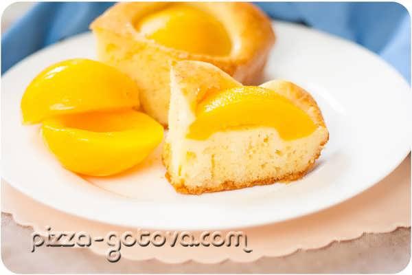 pirog s persikami konservirovannymi foto