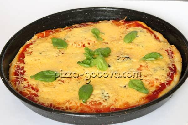 Рецепт вкусной  пиццы Маргарита
