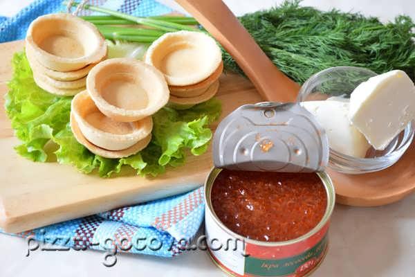 приготовление закуски тарталеток