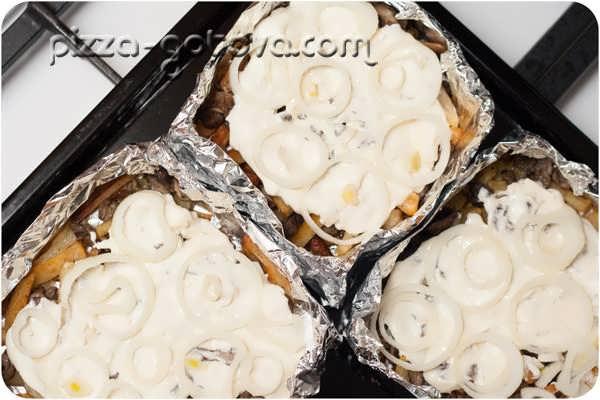 рецепт картошки с шампиньонами в духовке