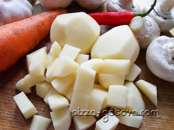 режим картофель на кубики