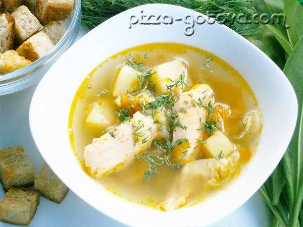 Рыбный суп из семги фото