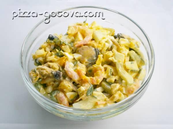 Салат из мидий консервированных