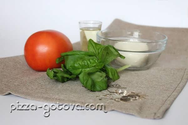 Набор продуктов для салата капрезе