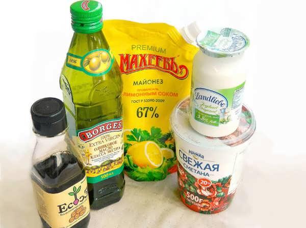 Ингредиенты для салата