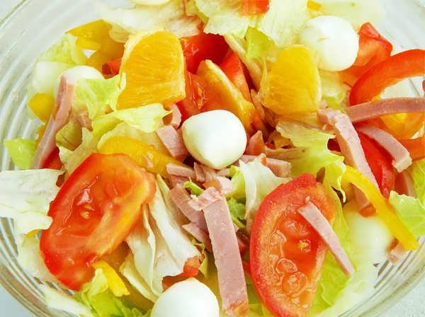 Салат с апельсинами, фото