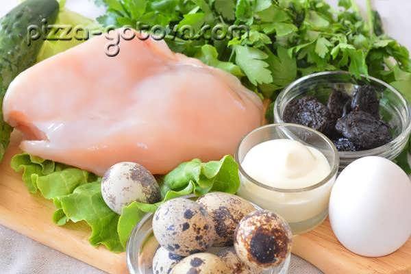 salat s chernoslivom i kuritsey (2)