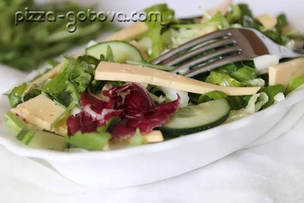 вкусный салат с рукколой