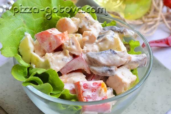 salat s shampinonami i kuritsey (11)