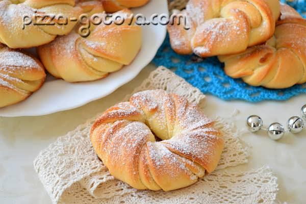 вкусные булочки из дрожжевого теста с фото