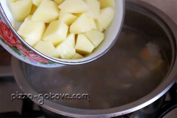 варим картофель 10 минут