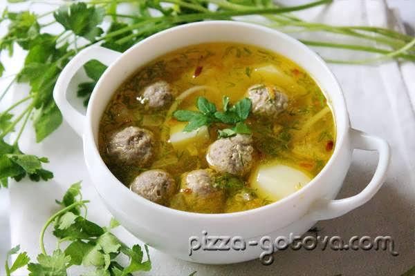 суп с фрикадельками, фото