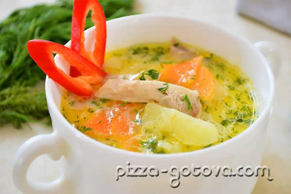 сырный суп с курицей рецепт фото