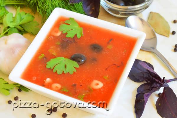 tomatnyy sup- pyure foto